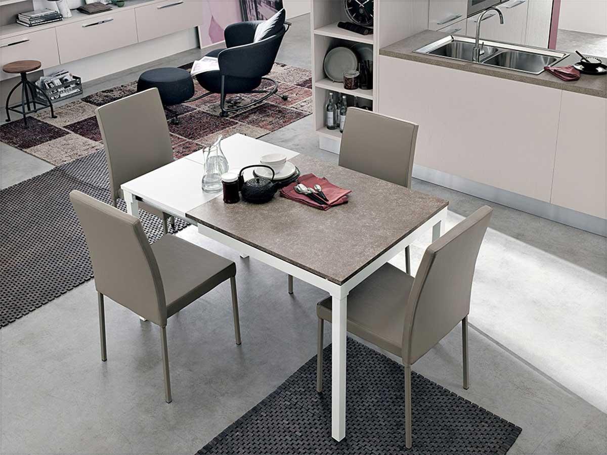Tavolo sala da pranzo allungabile arredamento mobili arredissima - Tavoli da sala allungabili ...