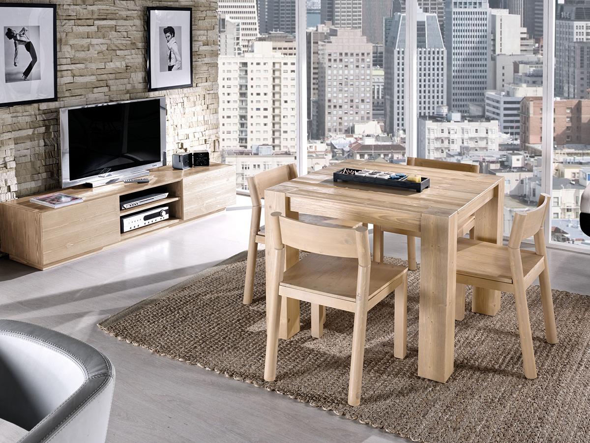 Tavolo allungabile in legno naturale sedia legno for Arredamento tavoli
