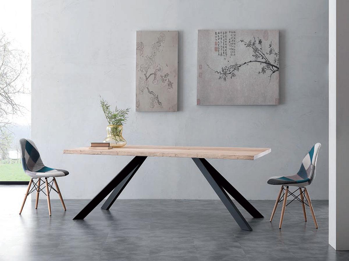 Tavolo design in legno massello sedia design arredamento mobili arredissima - Tavolo in legno design ...