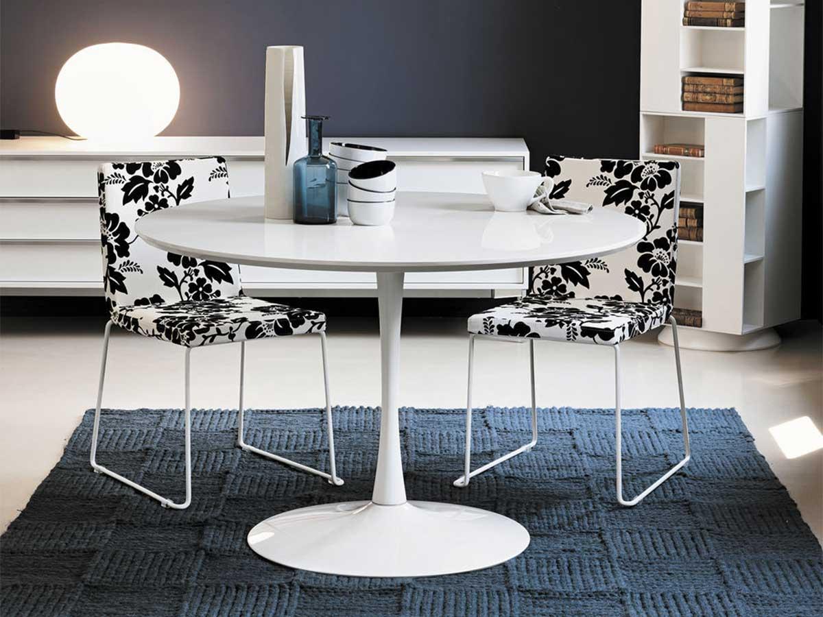 Tavolo rotondo con basamento centrale arredamento mobili - Tavolo ovale cucina ...
