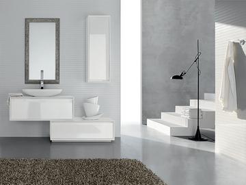 Mobili bagno bianco e legno mobili bagno arredamento for Disegni mobili