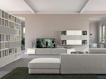 Soggiorno moderno con decorazione arredamento mobili for Arredamenti monterotondo
