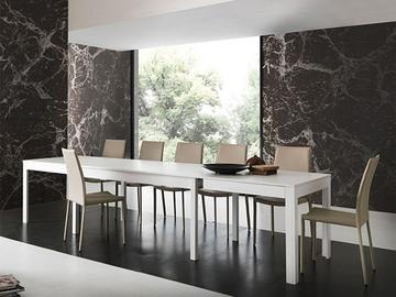 Tavolo allungabile legno bianco sedia faggio laccato arredamento mobili arredissima - Mobili usati belluno ...
